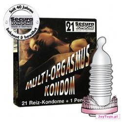 Prezerwatywy Secura Multi Orgasmus +pierścień - 21szt.