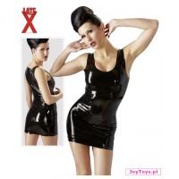 Lateksowa mini sukienka - XXL