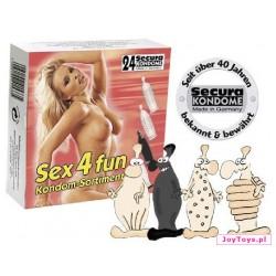Prezerwatywy Secura Sex4Fun - 24szt.