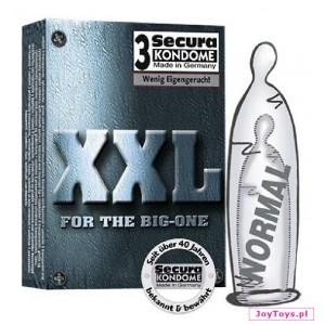 Prezerwatywy Secura XXL - 3 - przezroczysty