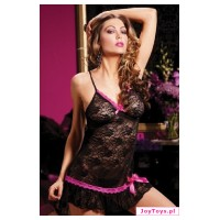 Komplet - Naughty Chemise & Thong - UNIW.