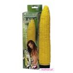 Żółty wibrator w kształcie kukurydzy.