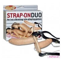 Dwustronne dildo Strap-On Duo - 15cm