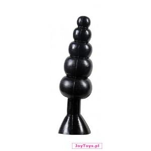 Korek analny Bendable Butt Rattler - czarny
