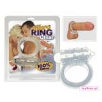 Silikonowy pierścień Vibro Ring - przezroczysty.