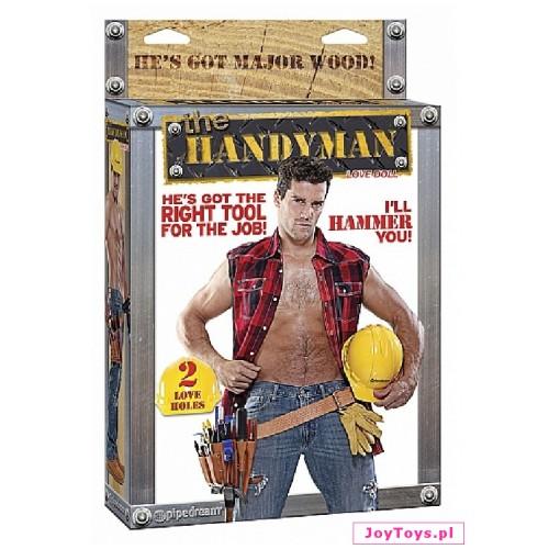 Męska lalka miłości - The Handyman z dwoma otworami.