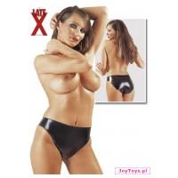 Lateksowe majtki czarne - XL